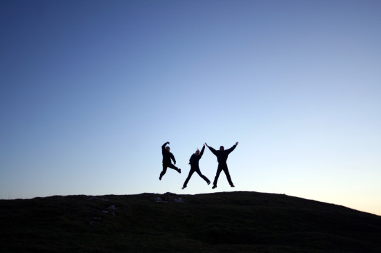 Photo of people jumping for joy by clspeace. From Flickr. License:  Attribution-NonCommercial-ShareAlike 2.0 Generic CC BY-NC-SA 2.0)